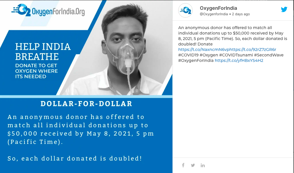 Oxygen For India