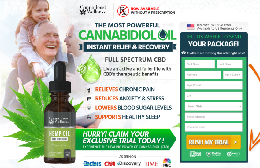 Cannaboost Wellness Hemp Oil