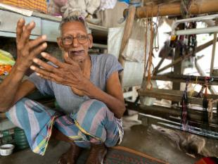 Home for India's eldest weaver